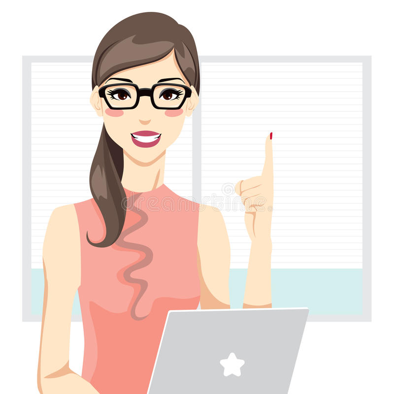 Office Woman royalty free illustration