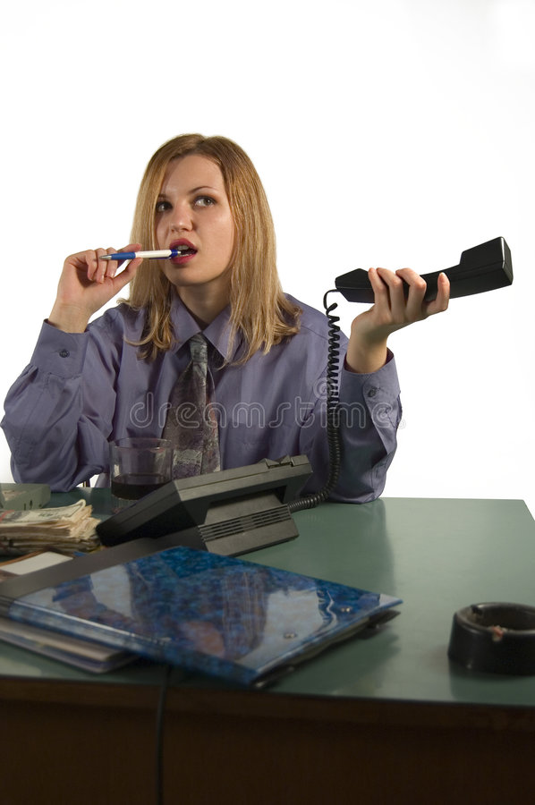 Office woman royalty free stock photos