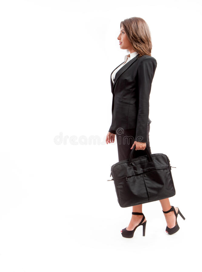 Office woman with briefcase stock image
