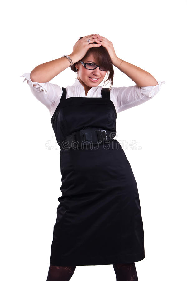 Download Office Woman In Studio Stock Image - Image: 13367731
