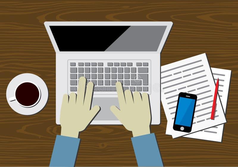 Office Work Kit. Office Worker illustration in flat style royalty free illustration