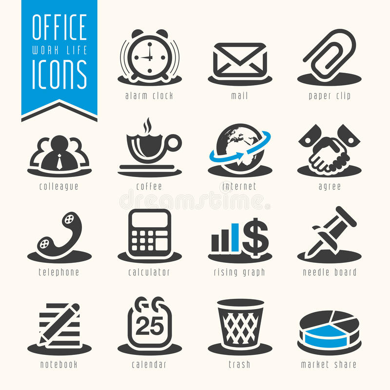 Free Office, Work Life Icon Set Royalty Free Stock Images - 47358069