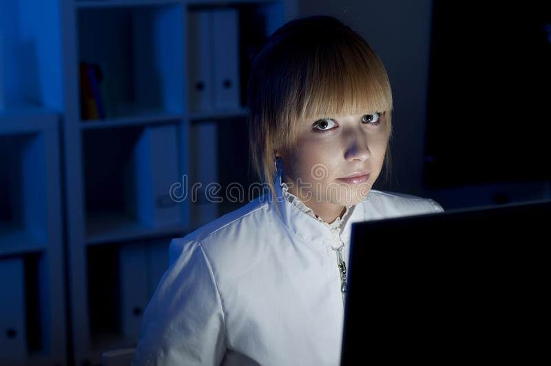 Download Office work at night stock photo. Image of concept, overtime - 24247104