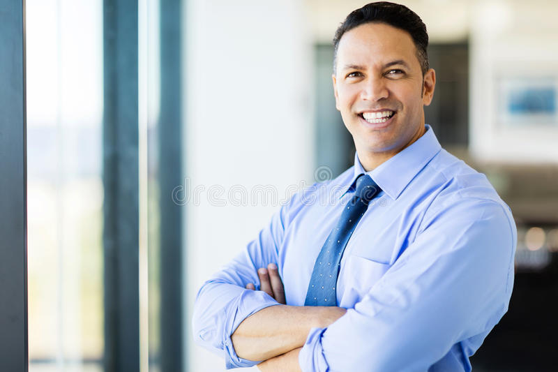 office worker arms crossed royalty free stock images