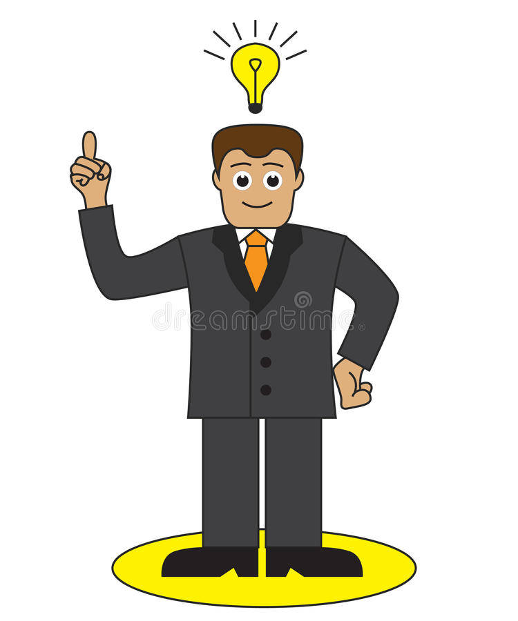 Download Office Worker Came Up With A Good Idea Stock Illustration