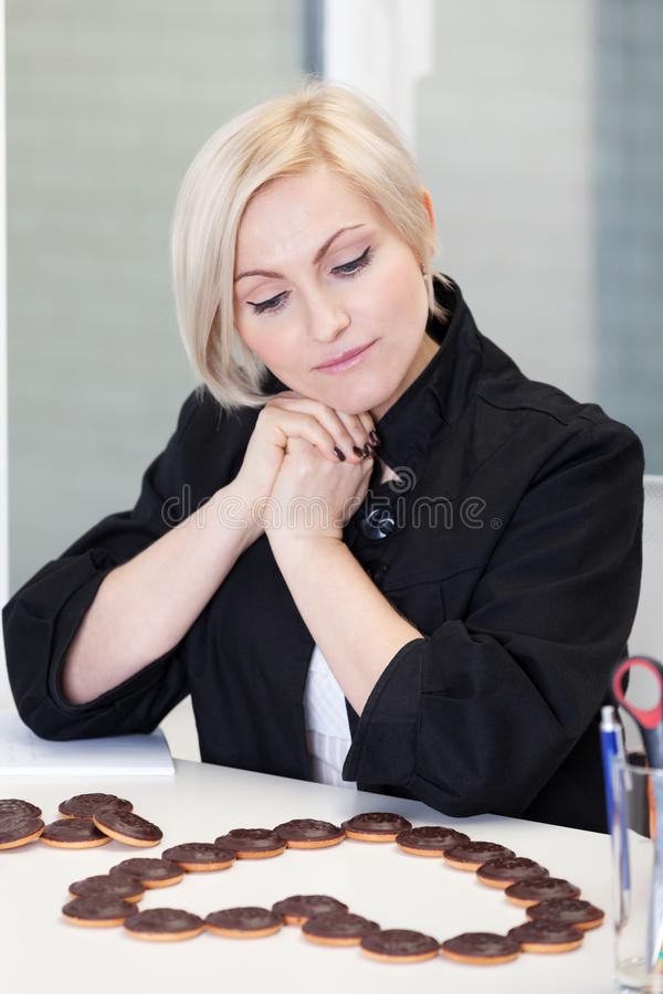 Office worker in love. Office worker is in love royalty free stock photography