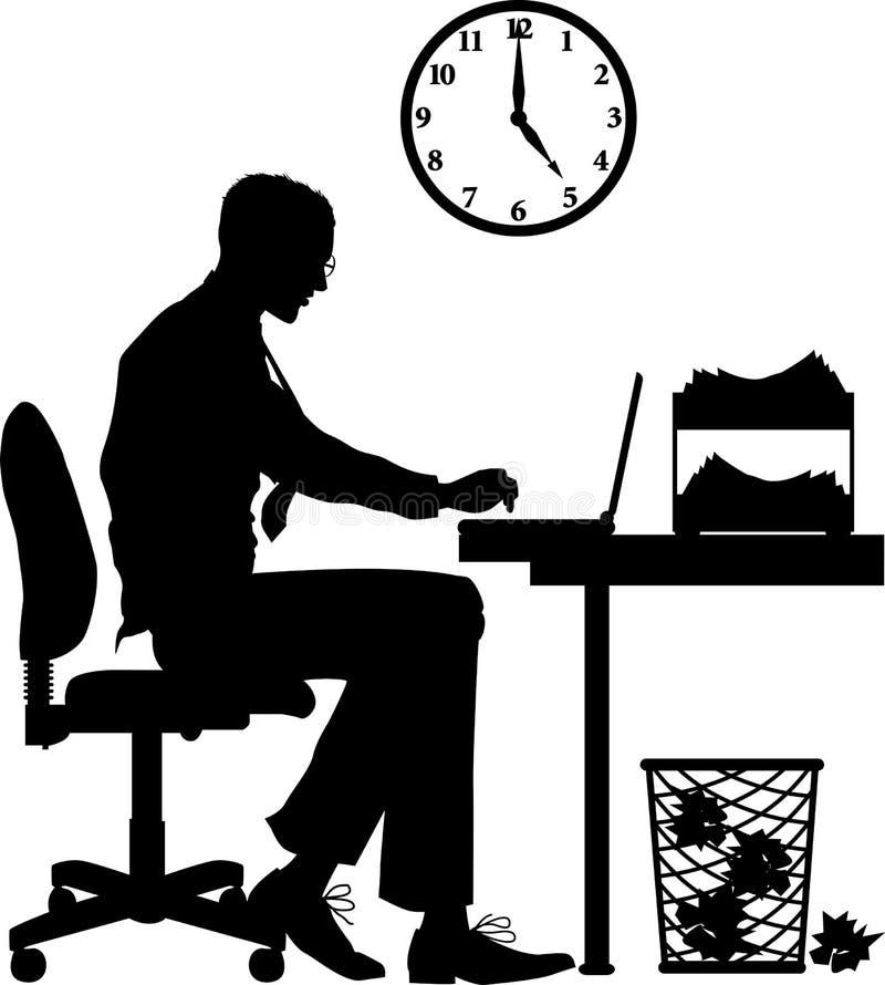 Office_worker_MALE ilustração royalty free