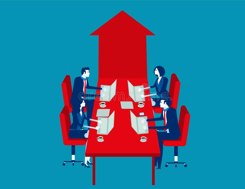 Office worker meeting and brainstorming. Concept business vector illustration, Collaboration, Meeting, Team with Teamwork vector illustration