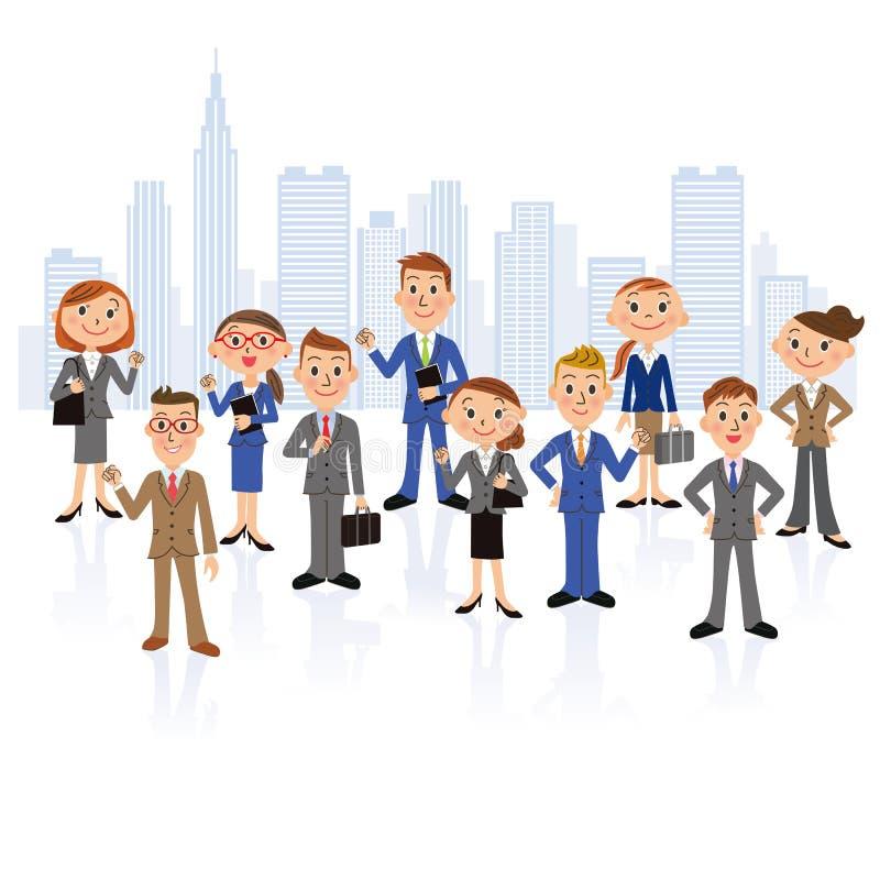 Office worker meeting stock illustration