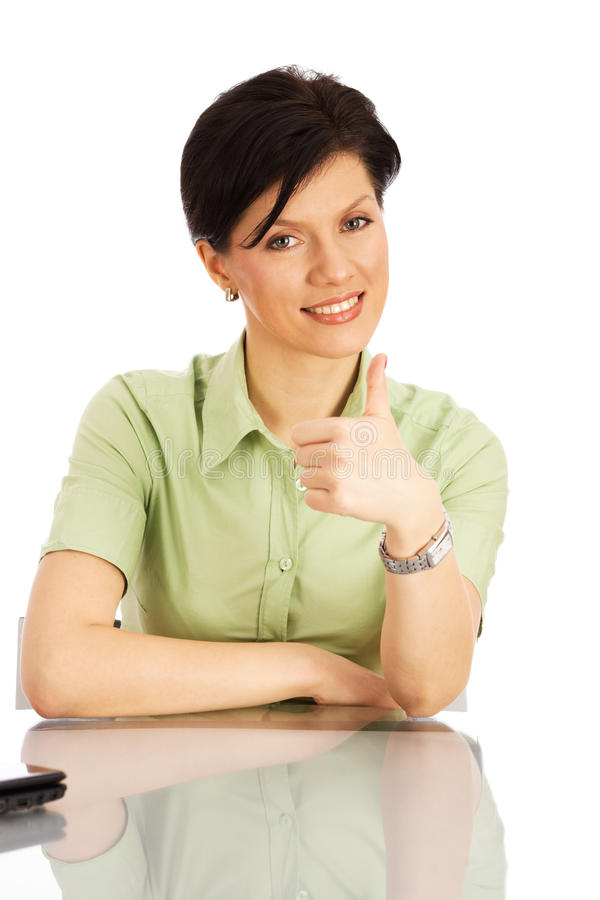 Free Office Worker Over White Royalty Free Stock Images - 12036549