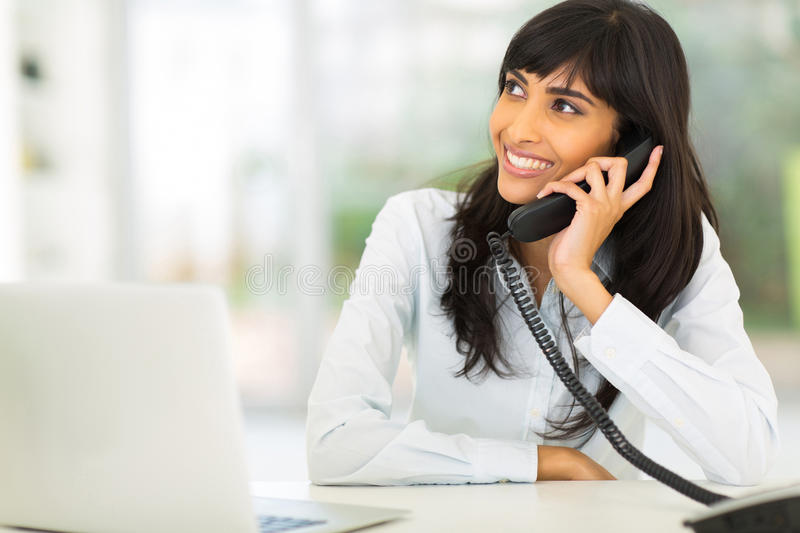 Office worker phone stock photography
