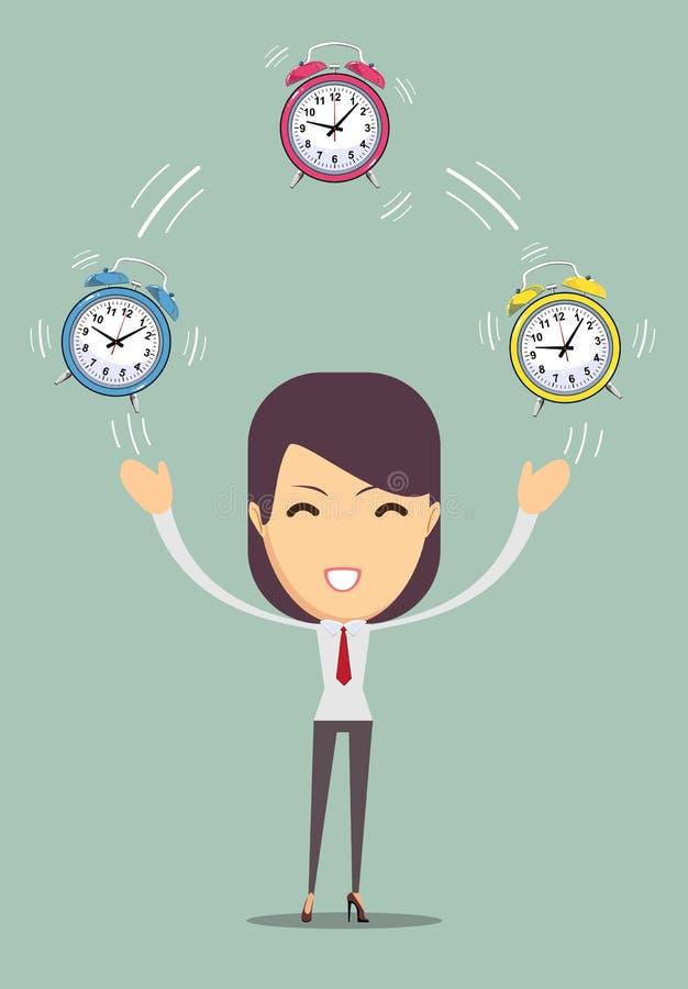 Office worker planning time vector illustration