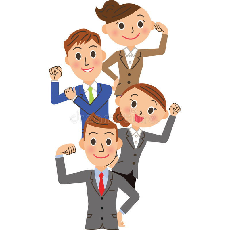 Office worker of the pose to do its best vector illustration
