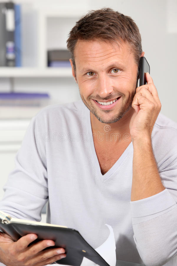 Office Worker Setting Appointment Royalty Free Stock Photo
