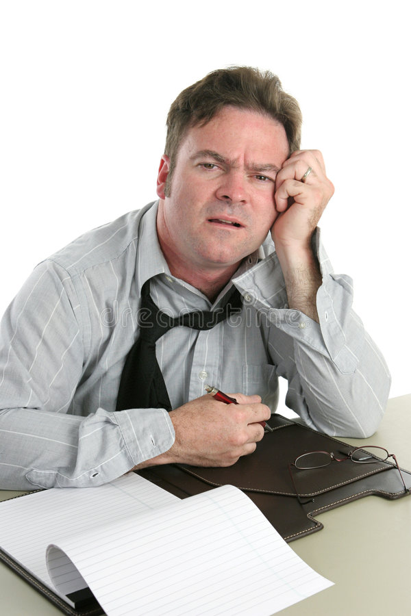 Office Worker-Trouble Concentrating royalty free stock images