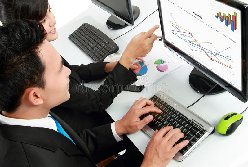 Download Office worker working stock image. Image of result, monitor - 24097465