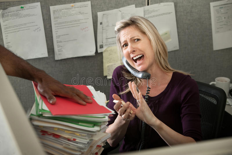 Download Office Worker Yelling On Phone Stock Photo - Image of form, collar: 19928220
