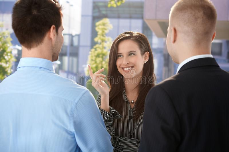 Download Office Workers Chatting At Break Time Stock Photo - Image: 20531584