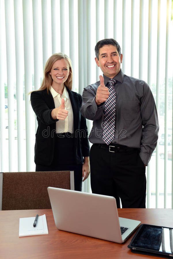 Download Office Workers Showing The Thumbs Up Stock Image - Image: 27448813