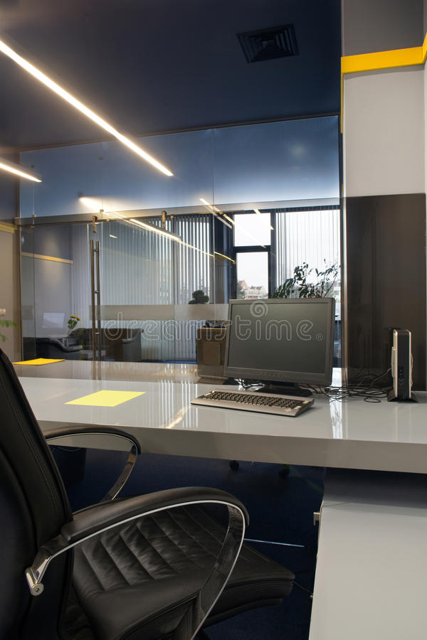 Office working space. Working space in modern stylish office royalty free stock photography