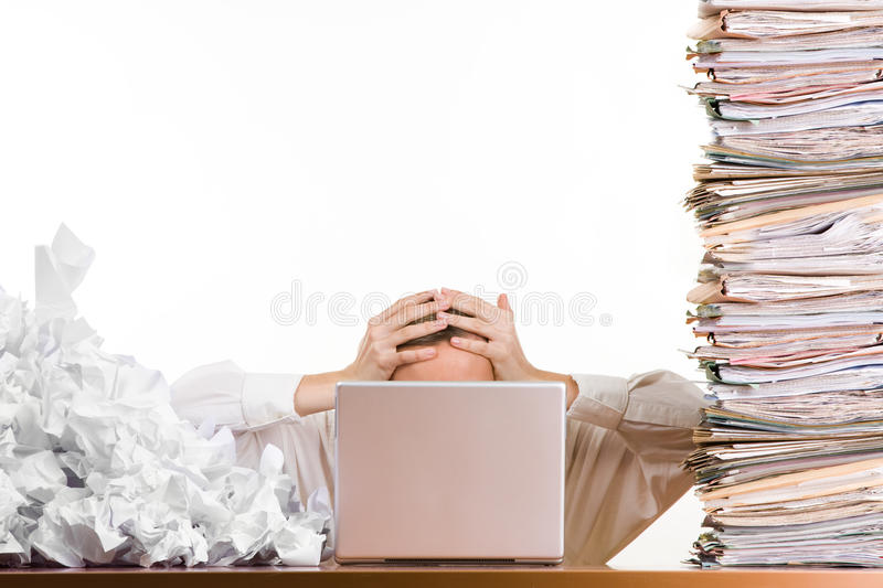 Download Office Workload stock photo. Image of stress, conceptual - 13655696