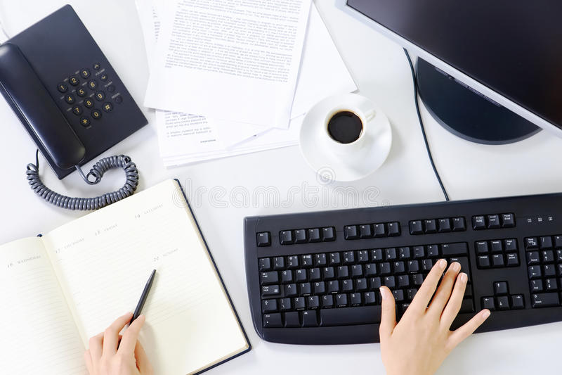 Office workplace stock photo