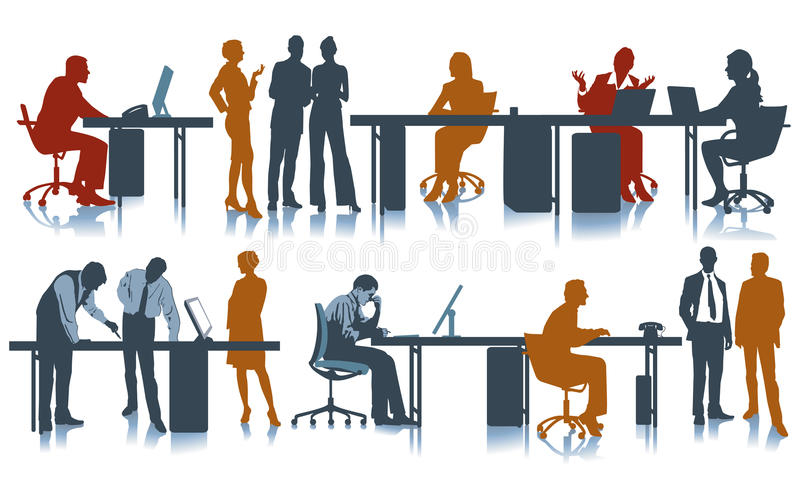 Office workplace vector illustration