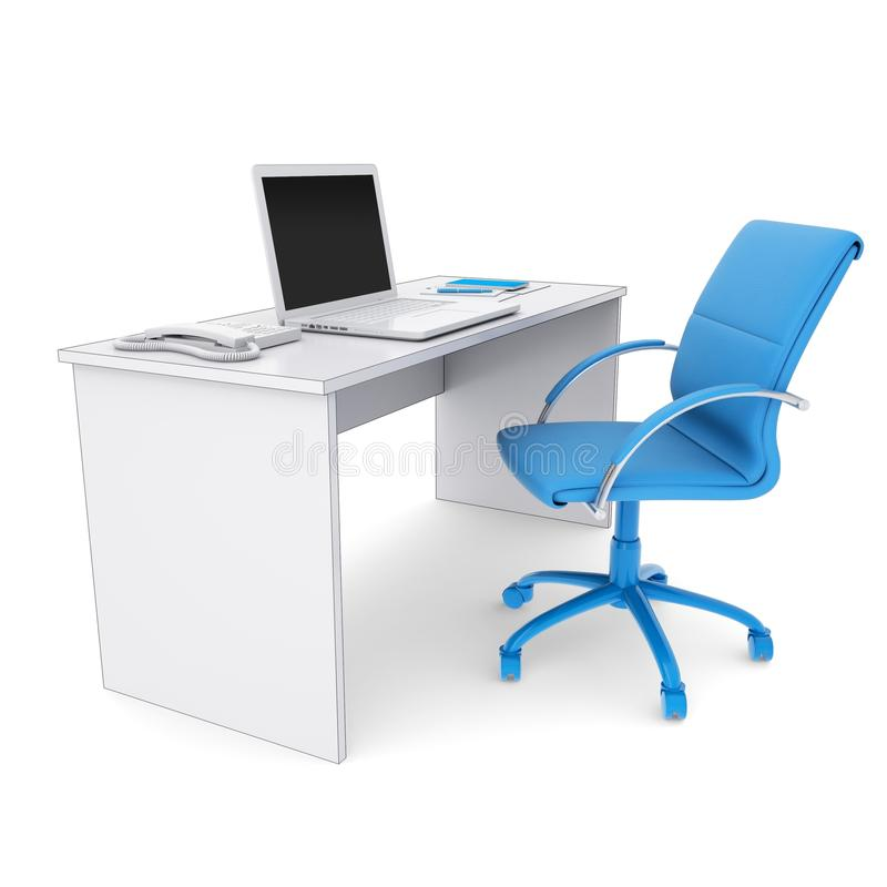 Download Office workplace stock illustration. Image of laptop - 28794250