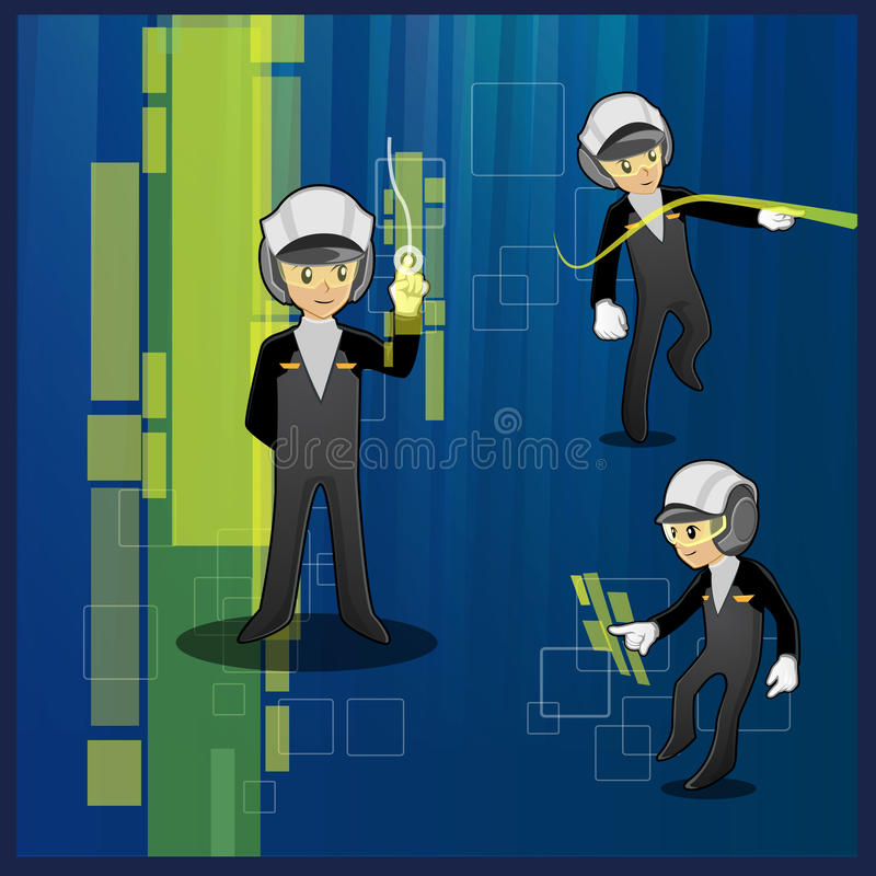 Officer. character design - illustration royalty free stock images