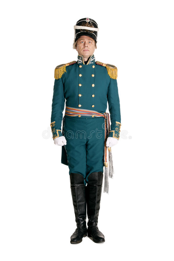 The officer of the Guards naval crew stock photography