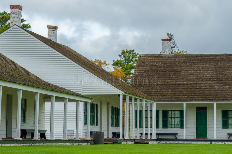 Officer quarters, fort wilkins. Officer quarters at fort wilkins state park, upper peninsula michigan royalty free stock photos