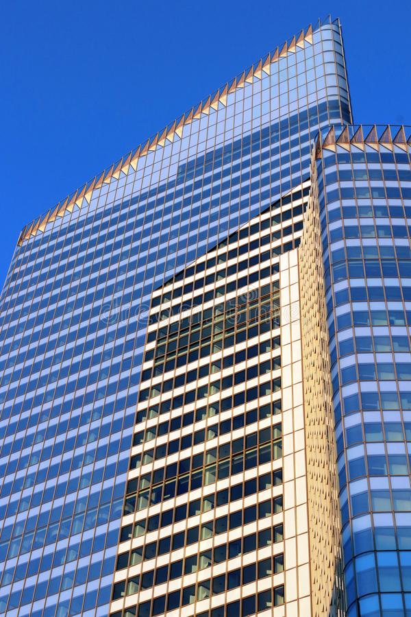 La defense Offices building in Paris business district france. Offices building and hotels. Contemporary architecture. La Défense is Europe`s largest business royalty free stock images