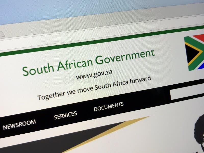 Officiële homepage van de Regering van Zuid-Afrika royalty-vrije stock afbeelding