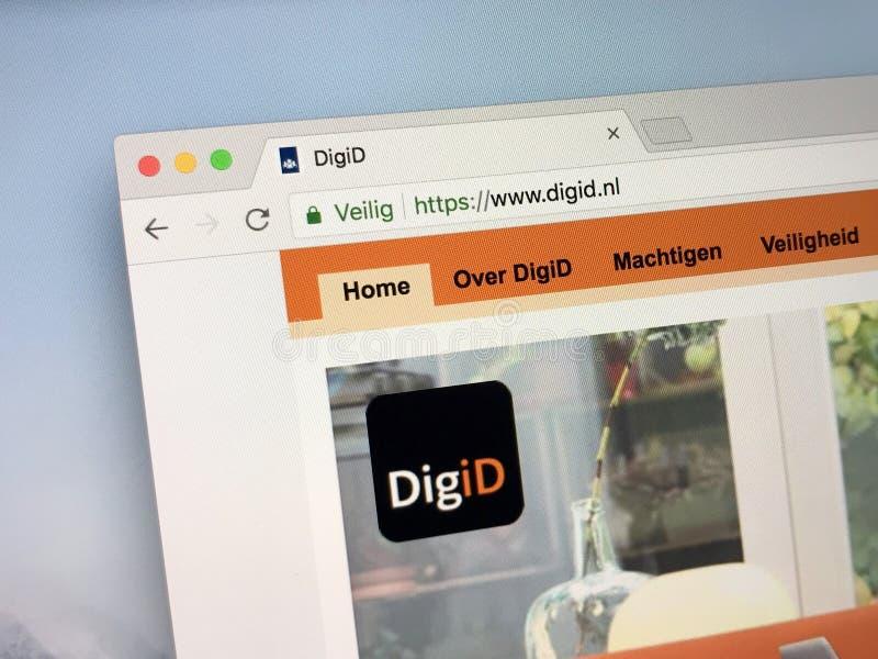 Officiële homepage van DigiD royalty-vrije stock fotografie