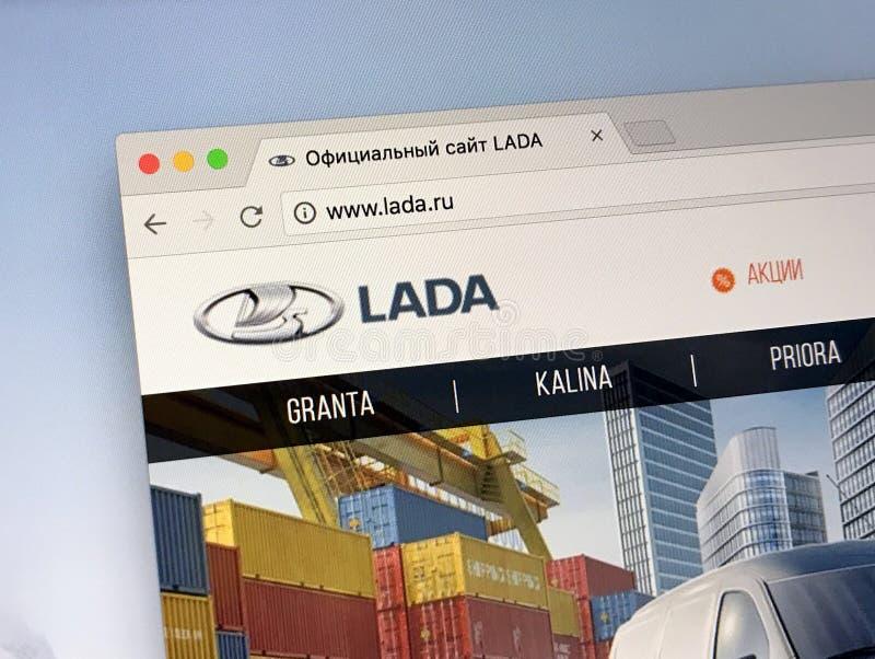 Officiële homepage van LADA royalty-vrije stock afbeeldingen