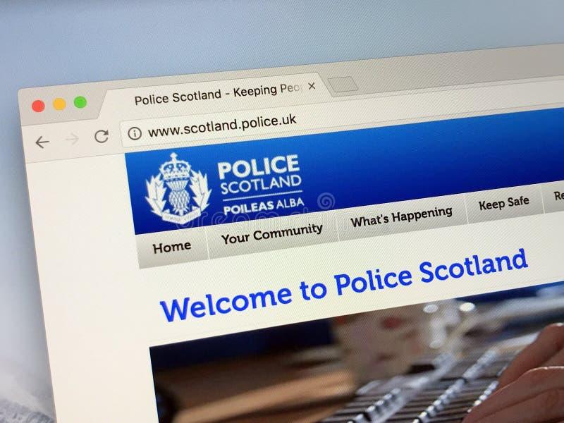 Officiële homepage van Politie Schotland - de Politiedienst van Schotland royalty-vrije stock afbeelding