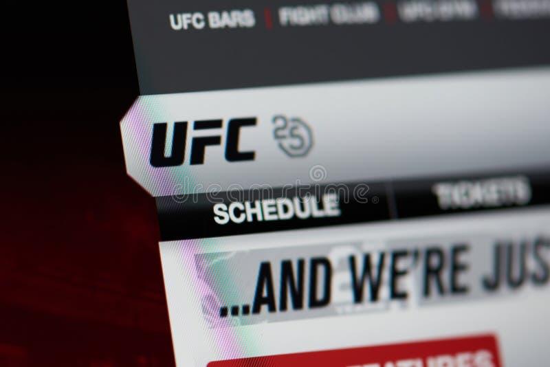 Officiële UFC-wereldhomepage stock foto's