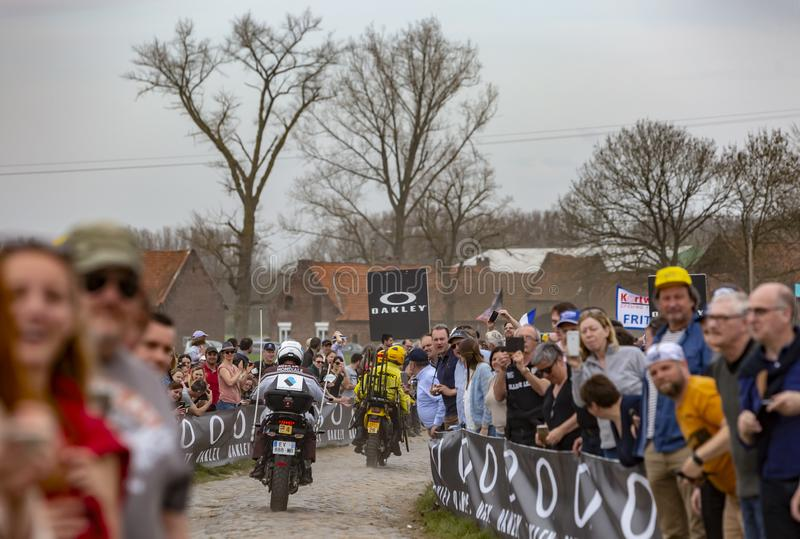 Official Bikes - Paris-Roubaix 2018 stock image