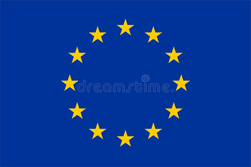 Official EU flag. The exact size, color and layout of the stars