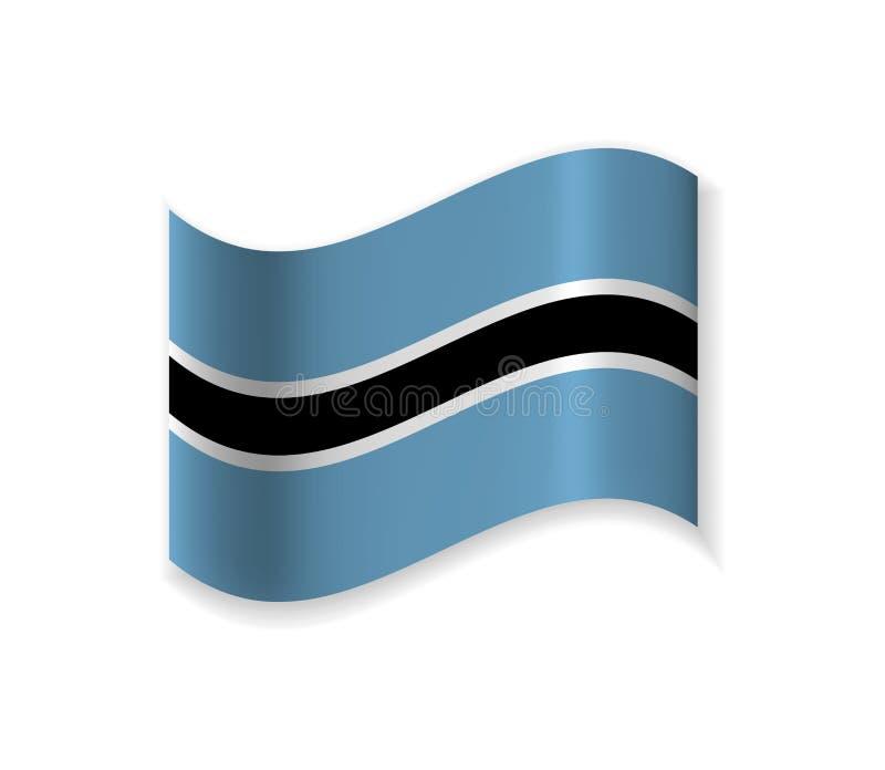 Official Flag Of Botswana. stock illustration