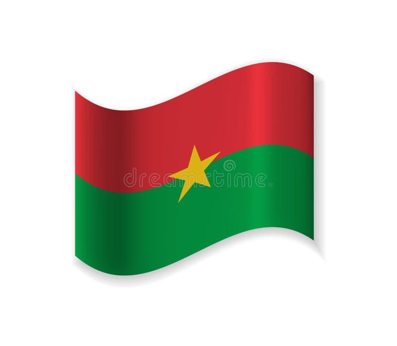 Official Flag Of Burkina Faso. stock illustration