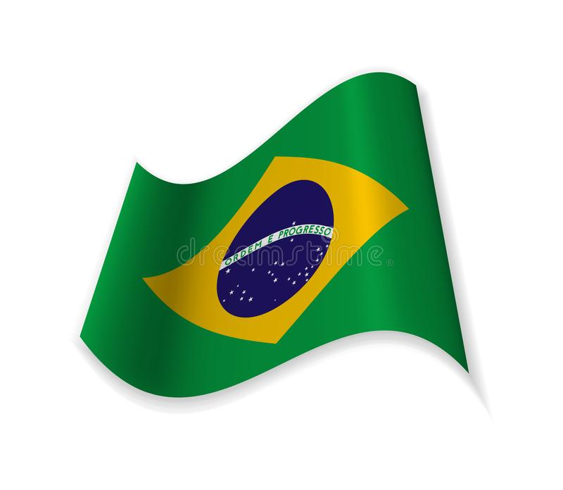 The Official Flag Of The Federative Republic Of Brazil. royalty free illustration