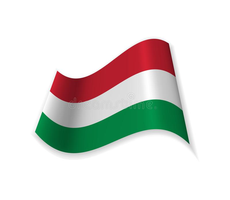 The Official Flag Of Hungary. stock illustration