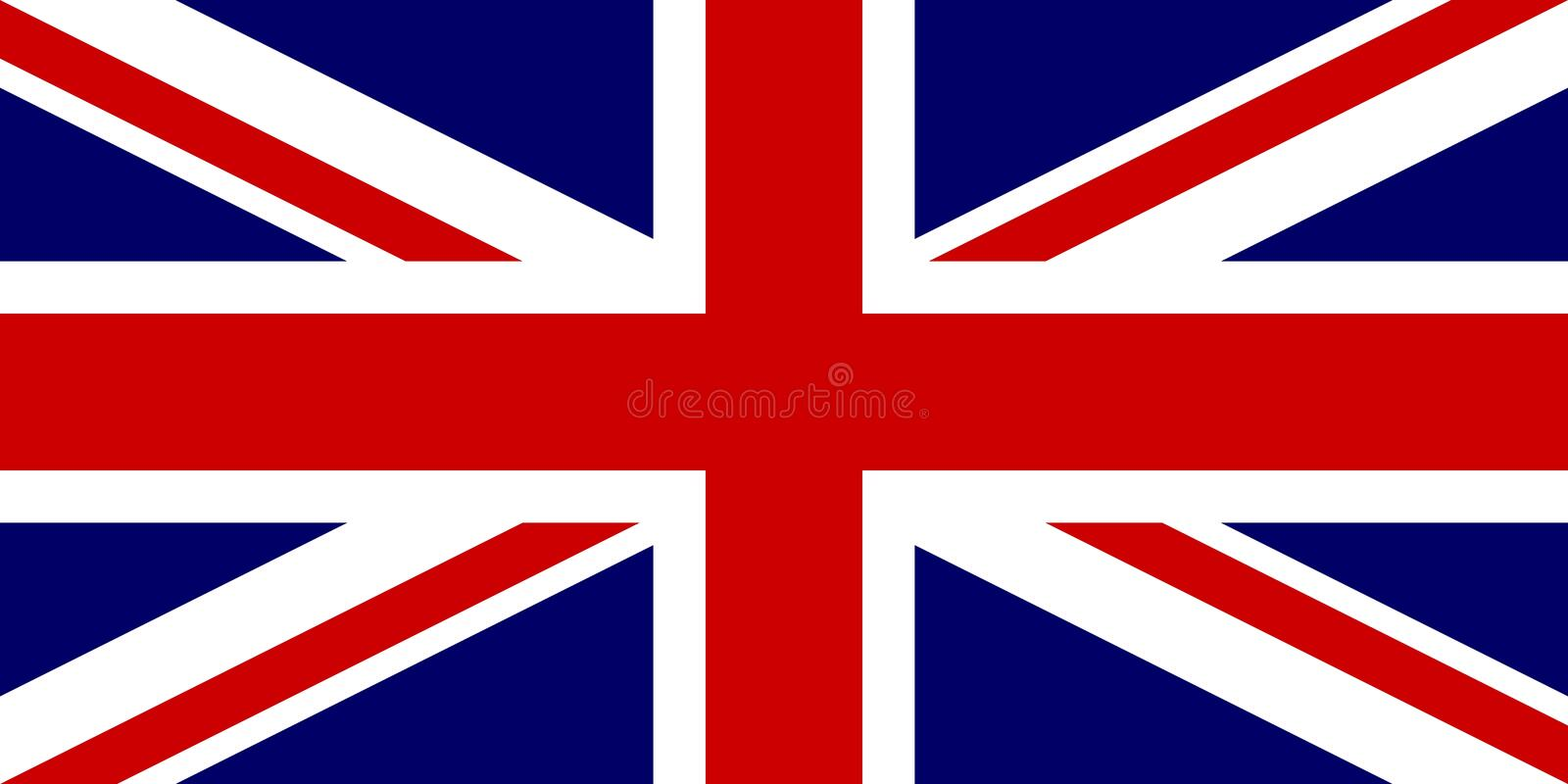 Official flag of United Kingdom of Great Britain and Northern Ireland. UK flag aka Union Jack. Vector illustration vector illustration