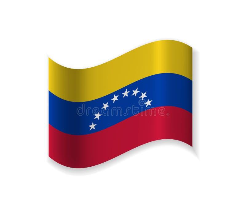 The official Flag of Venezuela. stock illustration