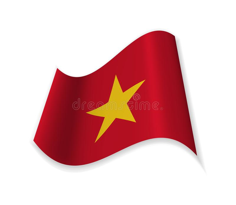 The Official Flag Of Vietnam. royalty free illustration