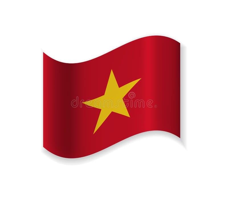 The Official Flag Of Vietnam. vector illustration