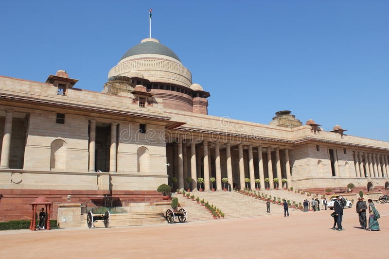 Official home - President of India. Rashtrapati Bhavan (Hindi for President House) is the official home of the President of India. It may refer to only the royalty free stock image