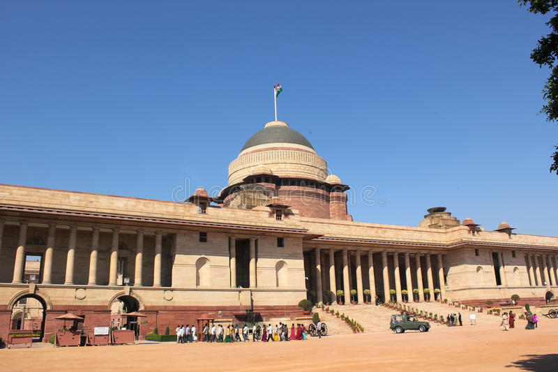 Official home - President of India. Rashtrapati Bhavan (Hindi for President House) is the official home of the President of India. It may refer to only the stock photography