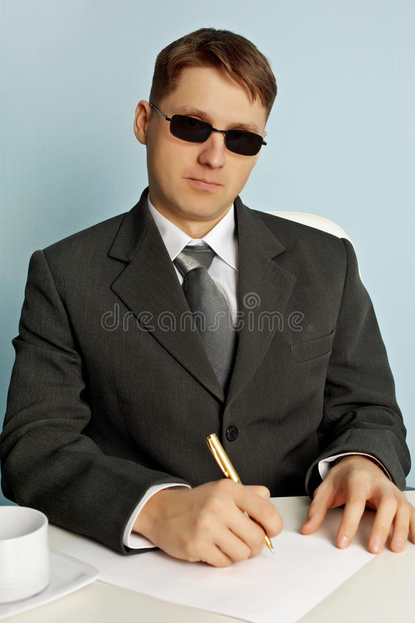 Download Official From Intelligence Service In Glasses Stock Photo - Image: 20586210